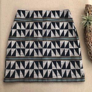Ann Taylor Woven Tribal Print Mini Skirt - Size 0